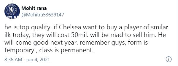 """CĐV Chelsea: """"Đừng bán, cậu ta là một cầu thủ đẳng cấp"""""""
