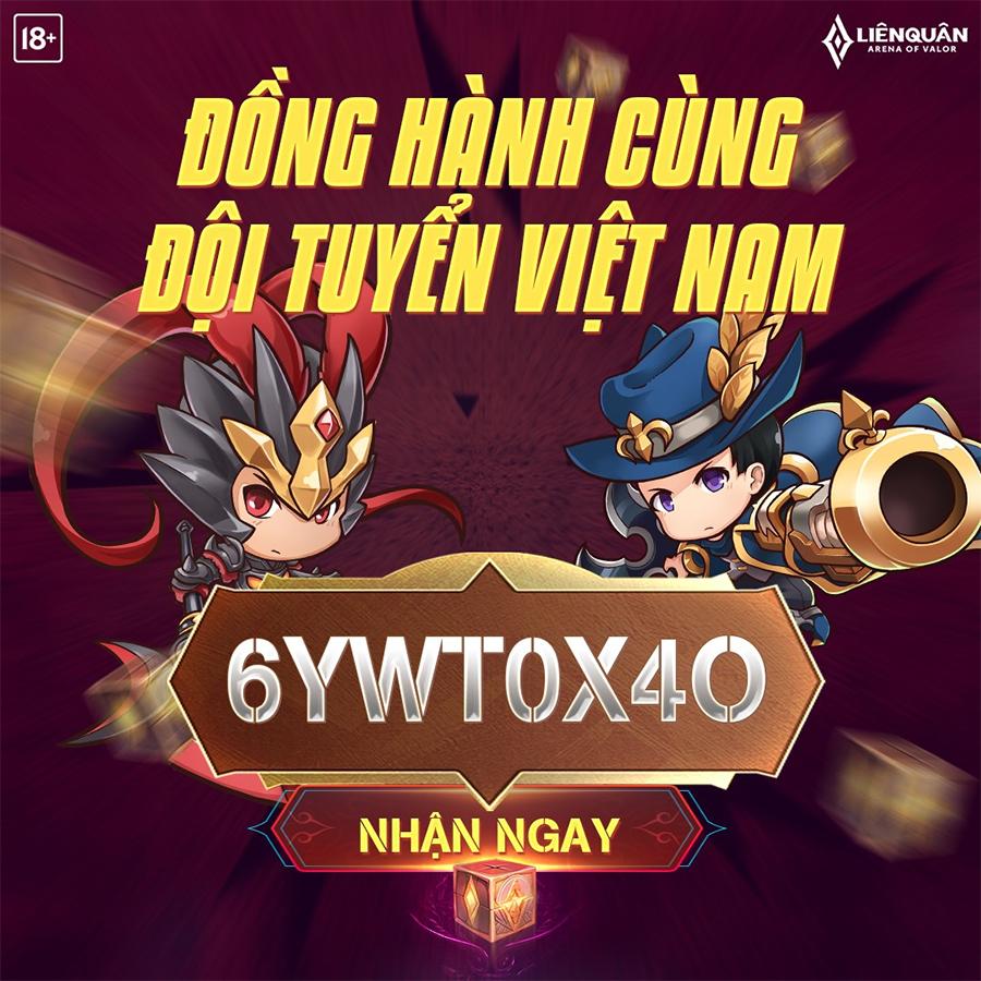 Garena tặng Giftcode Liên Quân Mobile nhân dịp Việt Nam chiến thắng ở vòng loại World Cup 2022