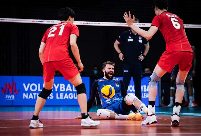 Những hình ảnh ấn tượng tại nội dung nam Volleyball Nations League 2021